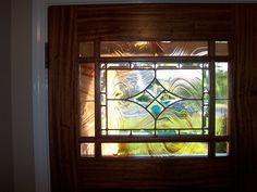 craftsman style Entry door with cutom stained glass leaded light ...