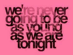 So enjoy tonight!