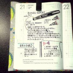 2015.08.21 私の絵のせいですごいずんぐりむっくりしてるけど、かっこいいんですよTIMELINE…! (この前のKAWECOも文具リポートだったのでは…とふと思いつつ) #ほぼ日手帳 #hobonichi #文具