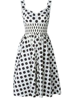 """i-love-polka-dots: """"DOLCE & GABBANA polka dot print dress """" Love this dress. Not a huge fan of white, it's not my color but I'm a total sucker for polka dots! Dolce & Gabbana, Vestido Dolce Gabbana, Vintage Clothing Styles, Vintage Style Outfits, Women's Clothing, White Polka Dot Dress, White Sleeveless Dress, White Dress, Polyvore Moda"""