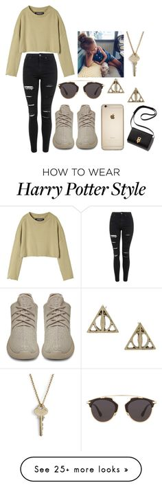 """wtih the baby"" by caia-irwin on Polyvore featuring Topshop, adidas Originals, Christian Dior, The Giving Keys, women's clothing, women, female, woman, misses and juniors"