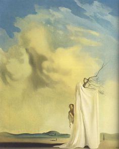 Salvador Dalí - Figure and Drapery in a Landscape, ca. 1935