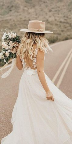 Bridal hats are SO on trend in the wedding industry, they're perfect choice for any bride looking for something a little different to a veil, tiara, or flower crown! Farm Wedding Dresses, Boho Wedding Dress Bohemian, Wedding Hats, Boho Bride, Boho Dress, Wedding Reception, Bohemian Weddings, Wedding Couples, Lace Wedding