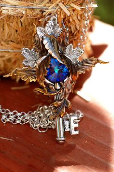 Realm Of The Fall Key Necklace by KeypersCove on Etsy