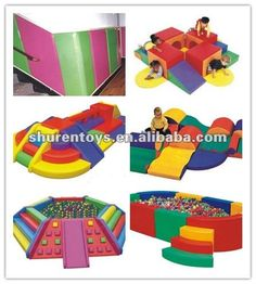 Colorful indoor soft play area equipment for sale