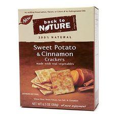 Back to Nature Sweet Potato Cinnamon Crackers