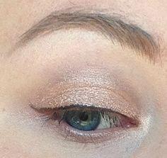 Doe Eyed Eyeshadow Frosty Peachy Pink w/ Gold by pumpkinandpoppy