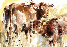 "Saatchi Online Artist: Lucy Newton; Other, Mixed Media ""cows"""