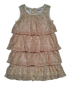 Take a look at this Mini Treasure Kids Gold Willow RaRa Dress - Girls on zulily today!