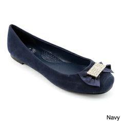 Women's Jewel Accent Ballerina Flats | Overstock.com