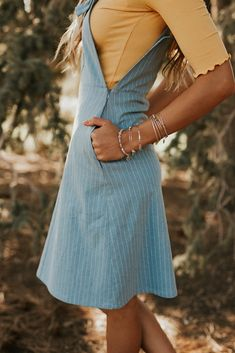 Overall Dress - Modest Dresses Modest Casual Outfits, Modest Fashion, Boho Fashion, Dress Outfits, Cute Outfits, Fashion Outfits, Stylish Outfits, Modest Dresses, Beautiful Outfits