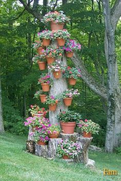tree stump planter -- don't like it.  What I don't want to end up with.