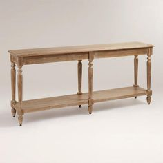 Everett Foyer Table | World Market console table for behind sectional.