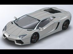 Solidworks Lamborghini Aventador Tutorial in - carpassion Cad Cam, Mechanical Design, Mechanical Engineering, Autocad, Solidworks Tutorial, Civil Engineering Design, Cnc, Cad Programs, 3d Tutorial