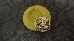 4 Seasons Pendant Mold, silicone mold, craft mold, porcelain, resin, jewelry mold, food mold, clays mold, flexible, charms, fondant