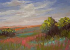 "Daily Paintworks - ""Texas Landscape"" - Original Fine Art for Sale - © Judy Wilder Dalton"