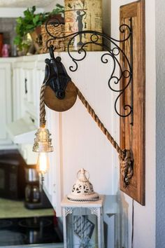 Barn Pulley Edison Rope Light with Glass by TheReclaimedLight