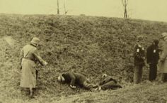 USSR, Execution of civilians by German policemen.