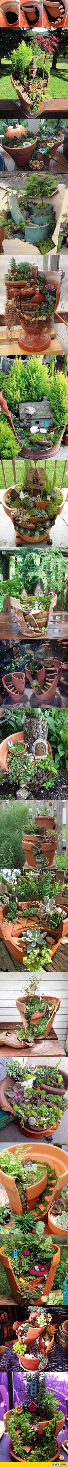 Don't Trash Broken Pottery, Instead Do This With It #jardinesideas