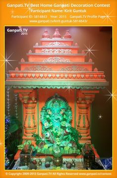 Kirit Guntuk Page on Ganpati.TV where all Ganpati festival decoration pictures and videos are shared. Decoration Pictures, Decorating With Pictures, Ganesha Art, Lord Ganesha, Lord Durga, Ganpati Picture, Ganpati Decoration Design, Ganesh Chaturthi Decoration, Ganpati Festival
