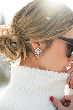 Pretty earrings.