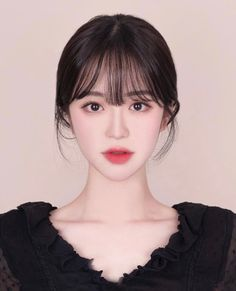 Baddie Hairstyles, Hairstyles With Bangs, Girl Hairstyles, Asian Short Hair, Asian Hair, Korean Medium Hair, Korean Beauty Girls, Asian Beauty, Korean Bangs Hairstyle