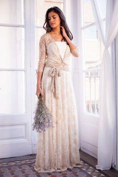 Lovely White Ivory Bridal Wedding Dress Tea Length Gown Custom