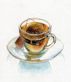 tea watercolor