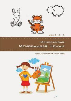 buku aktivitas anak SD, petunjuk cara mudah menggambar aneka hewan/binatang