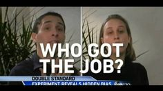 [Women and Labor: Paid and Unpaid] This video shows and experiment with two actors, one male and female. Both applied for the same job, had the same resume and had the exact same scripted dialogue. Yet, they said the woman sounded arrogant and bossy compared to the man. Thus, they wanted to hire the male. Also, it shows how difficult it is for female to get a good job to help support themselves and family.