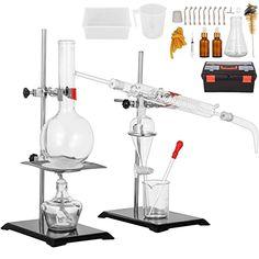 Homemade Essential Oils, Making Essential Oils, Essential Oil Distiller, Essential Oil Bottles, Essential Oil Still, Fractional Distillation, Alcohol Lamp, Erlenmeyer Flask, Steam Distillation