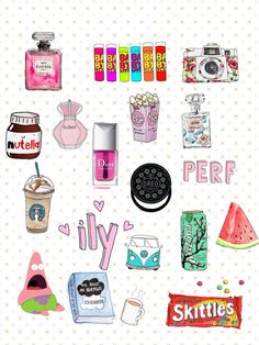 Cute and Girly Tumblr Stickers, Phone Stickers, Cute Stickers, Cute Backgrounds, Cute Wallpapers, Printable Stickers, Planner Stickers, Images Kawaii, Tumblr Transparents