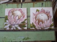 Fine Art by Melissa Von Brughan Durban based artist Plant Painting, Diy Painting, Protea Art, Protea Flower, Flower Art, Art Flowers, Painted Leaves, Angel Art, Learn To Paint