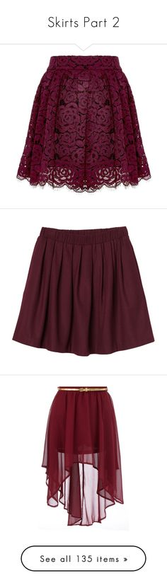 """Skirts Part 2"" by charlotte-sk ❤ liked on Polyvore featuring skirts, mini skirts, bottoms, saias, pants, short lace skirt, mini skirt, purple skirt, short mini skirts and box pleat skirt"