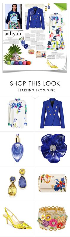 """""""aliyah 2018-149"""" by aaliyah ❤ liked on Polyvore featuring Etro, Balmain, Xerjoff, Delpozo, Tory Burch, Kate Spade and Betsey Johnson"""