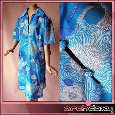 25% off - Vintage 1950s *UNWORN* Smock Sea Blue Print Day Dress #mod #vintagedress  http://www.ebay.co.uk/itm/Vintage-1950s-UNWORN-Delightful-Flowered-Smock-Sea-Blue-Print-Day-Dress-UK14-/282072582988