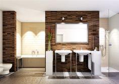 Trotz dem Mix aus Mustern und Farben behält das Bad einen ruhigen Charakter. Was meinen Sie zu dieser Ausführung? #BienZenker #Badezimmer #Bad
