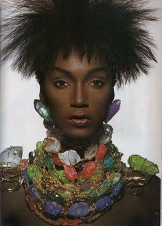"""Glorious Couture"", Vogue US, April 1988 Photographer : Irving Penn Model : Katoucha Niane 80s and 90s models"