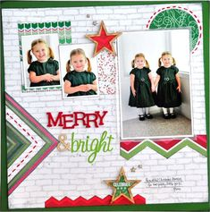 Layout by Designer Jill Cornell using Webster's Pages' NEW Christmas collection by Allison Kreft, It's Christmas!