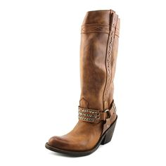Independent Boot Company Alyssa Women Round Toe Leather Brown Mid Calf Boot * More info could be found at the image url.