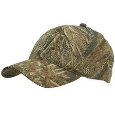 Mid Profile Basic Twill Camo Cap - Duck Blind W36S67F OUTDOOR. $15.99. Made of cotton and polyester(blaze is 100% polyester).. Bill measures 3 inches long, pre curved.. Crown measures 4 inches deep, 6 panels, pro style, constructed.. ONE SIZE fits most with adjustable plastic snap closure, fitting up to 7-1/2.. Thick and stiff material, cool design.. cotton