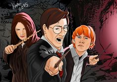 HP and gang Deviantart, Digital, Illustration, Artist, Anime, Inspiration, Biblical Inspiration, Artists, Cartoon Movies