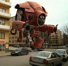 Robot en ciudad