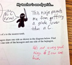 Point awarded to the teacher on that one :P