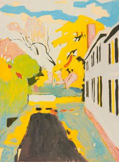 """fairfield porter, """"the driveway"""" // the colors"""