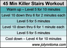 45 min killer stairs workout