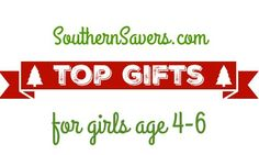 Looking for gifts for girls  Here are the top 10 gifts for girls age 4-6.