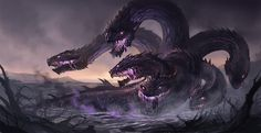 Mythological & Legendary Creatures — Lernaean Hydra - It possessed ...