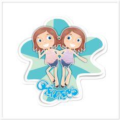 Adesivo Gêmeos de @estudioagridoce | Colab55