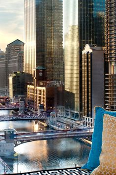 Hotel Monaco is in Chicago's cultural, retail and architectural center. Image Beautiful, Beautiful World, Beautiful Places, Chicago River, Chicago Chicago, Chicago Illinois, Visit Chicago, Valley Of Fire, Us Road Trip